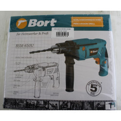 Дрель ударная, BORT, BSM-650U, 93726881